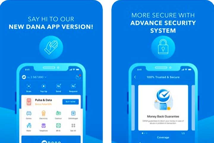 Aplikasi DANA transfer uang tanpa biaya admin