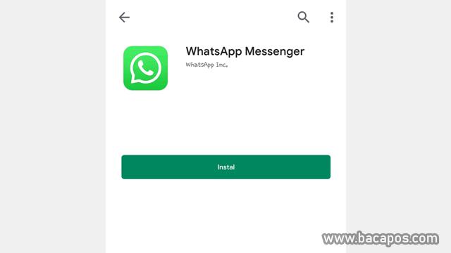 Install Ulang Aplikasi Wa