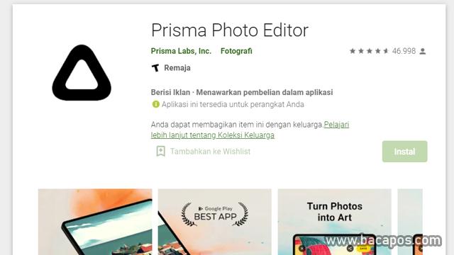 Prisma aplikasi foto jadi kartun