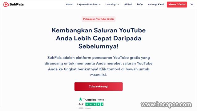 SubPals situs penambah subscriber