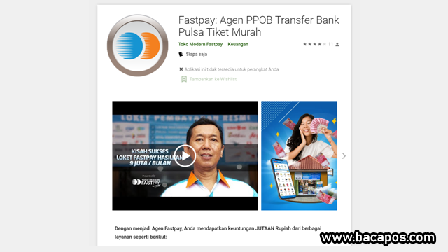 Toko Modern Fastpay aplikasi agen pulsa murah