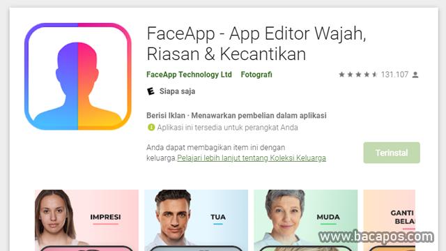 Aplikasi Merubah Wajah Terbaik