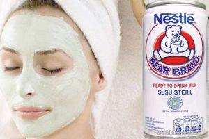 Cara memutihkan wajah menggunakan susu bear brand atau masker susu beruang