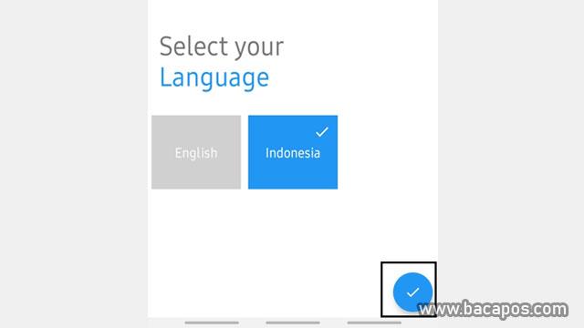 pilih bahasa cara membuat cv online gratis