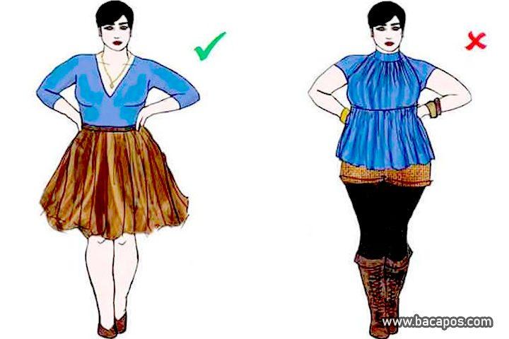 Cara berpakaian untuk wanita gemuk atau gendut, cara berpakaian untuk orang gemuk