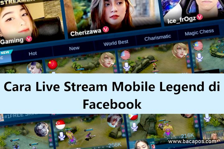 Cara live streaming mobile legend di facebook gaming tanpa aplikasi