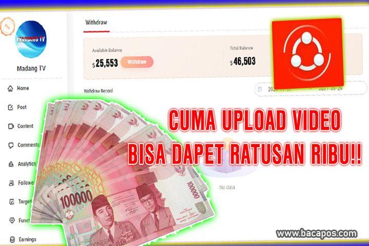 Cara menghasilkan uang atau dapat uang dengan upload video di shareit wemedia untuk mendapatkan penghasilan.
