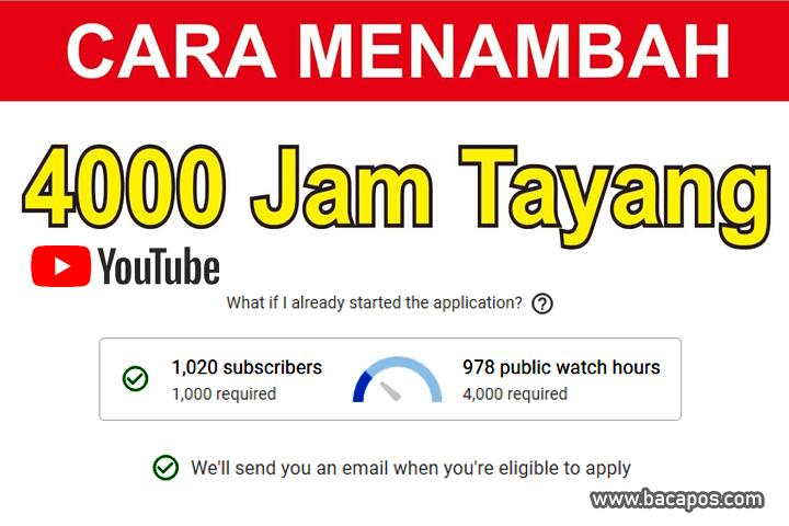 Situs Penambah Jam Tayang Youtube Website untuk Menambah, Cara Cek dan Menghitung Jam Tayang Youtube